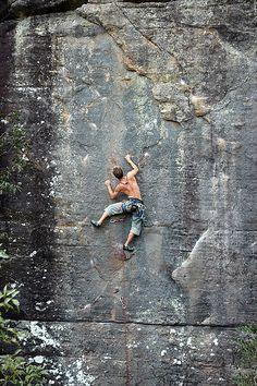one day... rock climbing