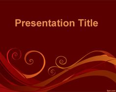 Free flexible template for PowerPoint with red background and curves