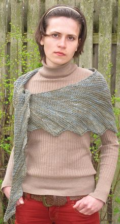 Adirondack, an asymmetrical crescent shaped shawl.  This pattern is available in pdf format via etsy.