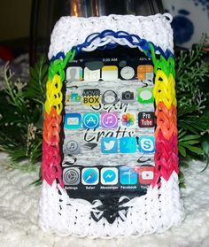 Personalized Rainbow Loom Phone Case / IPod Case / IPhone Case / Android Case / Rubber Band Case on Etsy, $13.00