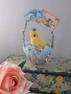 Repurposed Jello Mold Easter Basket