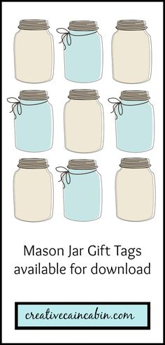 Mason Jar Gift Tag Printable