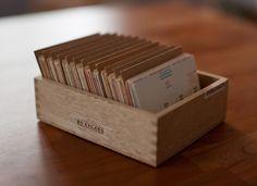 cigar box used for memory card calendar