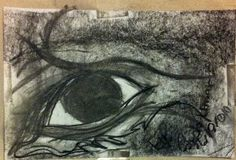 Mine Eye Charcoal Art Print by WirequeenJewelry on Etsy, $30.00