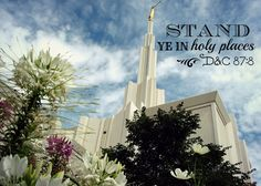 Denver Temple with Stand ye in holy places from @Courtney Aitken. New Beginnings? #Youngwomen
