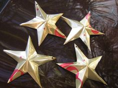 How to Make Silver and Gold Tin stars from soda cans.