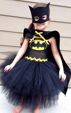 Batman tutu Halloween costume dress for girls by www.BlissyCouture.com Lots of bling!  :)