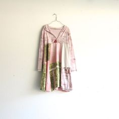 upcycled Hoodie Dress / romantic Upcycled clothing / by CreoleSha, $95.00