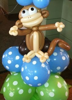 Curious george on pinterest curious george curious george birthday and curious george party - Monkey balloons for baby shower ...