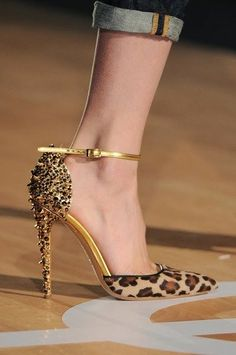 Leopard High Heel Shoe