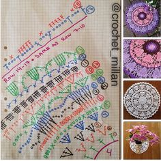 Crochet heart mandala free pattern