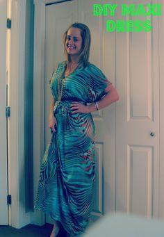 DIY Maxi Dress with empire waist dress diy, sew, maxi dresses, craft, diy maxi, cloth, diy dress, maxis, maxidress