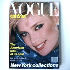 Kelly emberg on vogue cover | Vogue Magazine September 1979 1970s Fashion Mag Kelly Emberg Cover ...