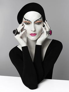 http://www.patriziodirenzo.com/ french fashion, di renzo, serge lutens, makeup, art, white, patrizio di, serg luten, black