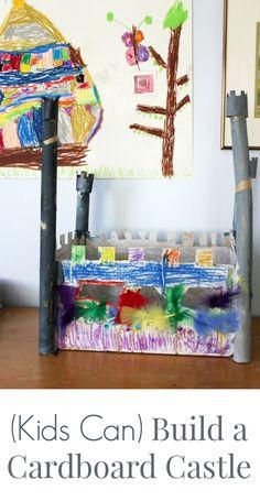 DiY Cardboard Castle by a 5 Year Old with a Glue Gun