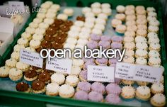 open a bakery