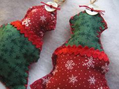 Fabric Christmas Tree X 2 by GTcottagecrafts on Etsy, $9.99
