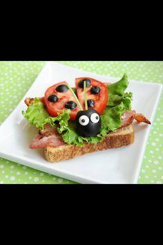 A ladybug sandwich