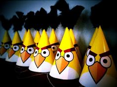 DIY  :  Angry Birds Party Hats  for your Angry Birds Birthday Party