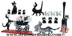 Cats from Albert Dubout