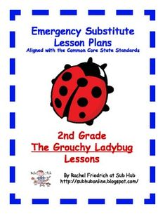 $. 2nd Grade CCSS Emergency Sub Plans from Sub Hub