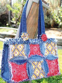 denim circl, jean purses, quilt patterns, rag bag, recycled denim, bag patterns, circle quilts, purse patterns, sewing patterns
