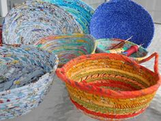 Sherrie loves color!: Fabric bowls at STITCH retreat