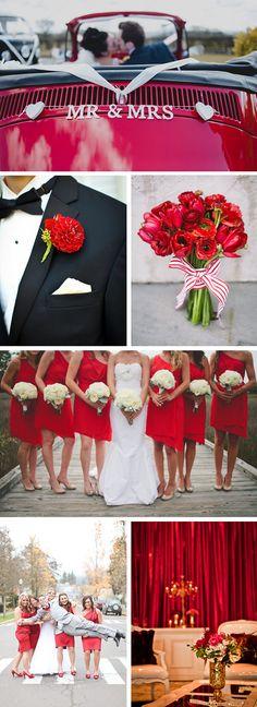 red wedding ideas Red Wedding Details