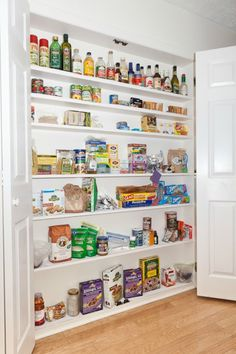 Kitchen Pantry - shallow spaces are best - no stuff lost in back.  Can recess in a wall.