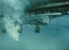 The capsized Ocean Liner