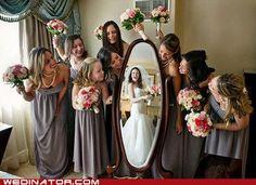 Great wedding day pic idea!