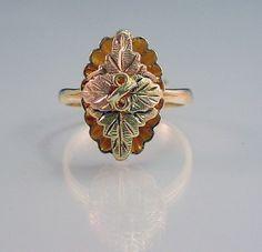 Black Hills Gold Ring Leaf Design