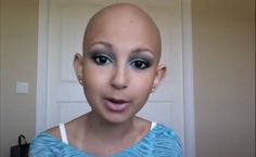 talia joy is a 12 year old cancer patient, who doesn't like wigs so she decided to work on her make up skills so she could have the self confidence to go to the grocery store. Now She has her own vlog so she can teach others. I love her.