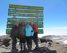 Kelly trekked Thomson Safaris' Western Approach Route in 2010, but was unable to complete her climb due to altitude sickness. She returned in July 2013 to climb the Grand Traverse and is overjoyed to have succeeded in reaching the summit this time around.