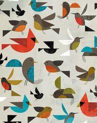 Charley Harper / illustration / oiseaux