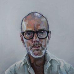 SANDRO KOPP  Michael Stipe, 2011  Oil on linen  17 x 17 in  43.2 x 43.2 cm