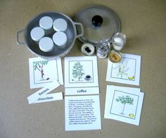 Foods of South America Scent Set. Not free, but a great idea.  #southamericaunitstudy #southamericanfood #homeschool