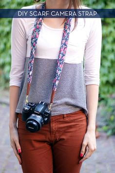 Five Minute DIY: Camera Strap From A Scarf » Curbly | DIY Design Community @Andi Nicola  thanks for sending this! It's so cute!