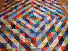 half-dark/half-light squares