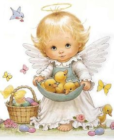 easter angel, morehead graphic, easter card, ruth morehead, ruth moorehead