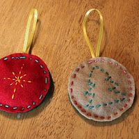 30 Homemade Ornaments for Kids  @Jamie Wise [hands on : as we grow].com