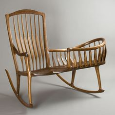 A rocker cradle from a 1700s design
