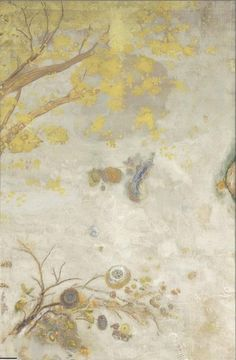 Odilon Redon (1840-1916)  Yellow Flowering Branch  1901  Oil, tempera, charcoal and pastel on canvas