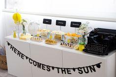 Sunny baby shower buffet