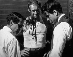 """""""Bonnie and Clyde"""" Director Arthur Penn, Gene Hackman, Warren Beatty 1967"""