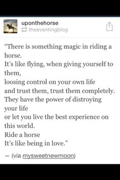 Horseback riding quote