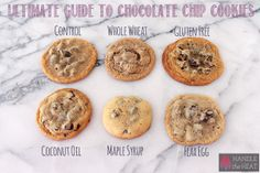 Ultimate Guide to Chocolate Chip Cookies Part 3 - shows how dietary restriction ingredients and healthy substitutions affect cookies!