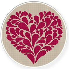 Buy 4 get 1 free ,Buy 6 get 2 free,Cross stitch pattern, Crossstitch PDF,heart, cross stitch pillow pattern,zxxc0326. $5.00, via Etsy.