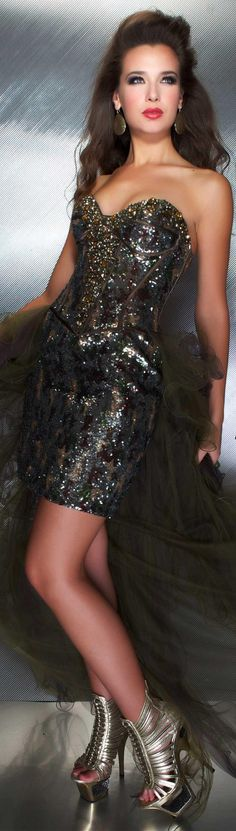 Mac Duggal couture dress camo #strapless #formal #dress MAC DUGGAL PROM  STYLE 50140M