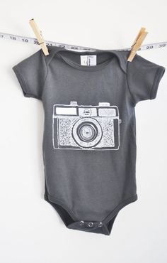 baby clothes baby onesie holga camera yellow by littleleestudios, $16.00 #baby